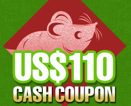 DG0025  US$ 110.00 Cash Coupon