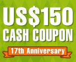 DG0011  US$ 150.00 Cash Coupon