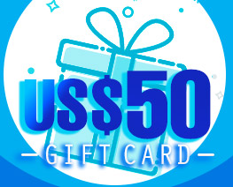 DG0031  US$ 50.00 Gift Card