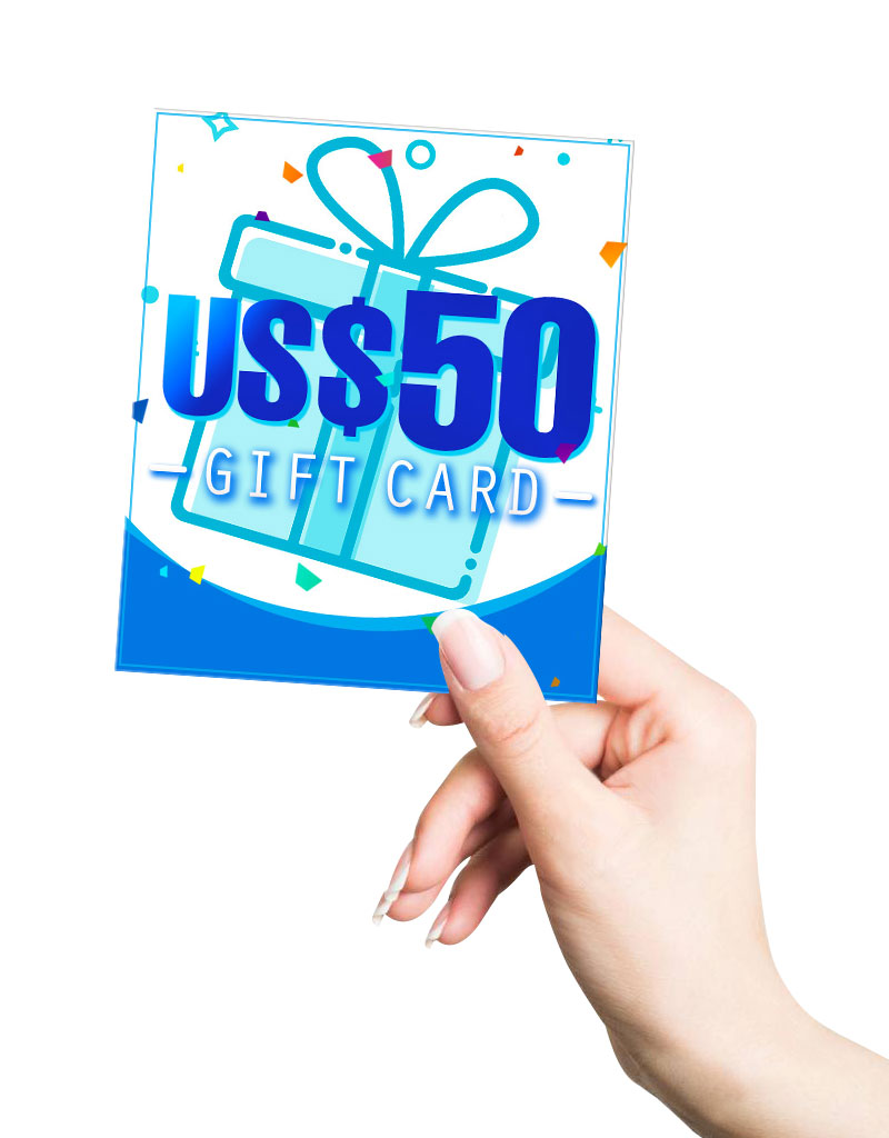 US$ 50.00 Gift Card