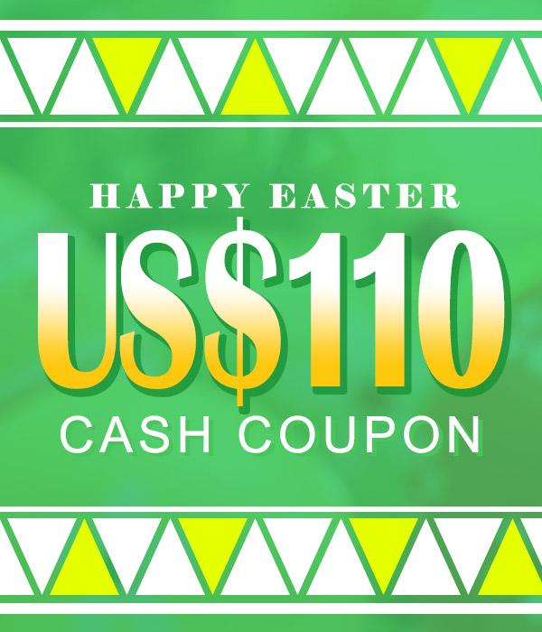 US$ 110.00 Cash Coupon
