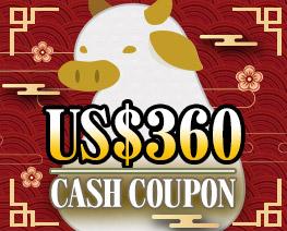 DG0039  US$ 360.00 Cash Coupon