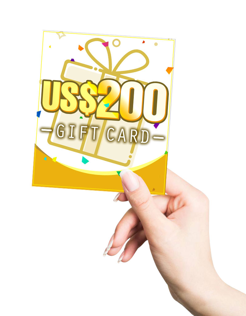 US$ 200.00 Gift Card