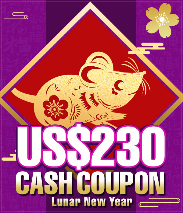 US$ 230.00 Cash Coupon