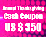 OT1693  US$ 350.00 Cash Coupon