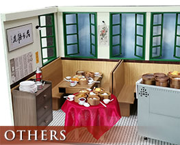 OT2435 1/12 Diorama Set Traditional Hongkong Style Teahouse