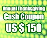 OT1691  US$ 150.00 Cash Coupon