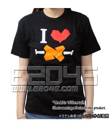 I Love BBQ Spit T-Shirt Black (M)