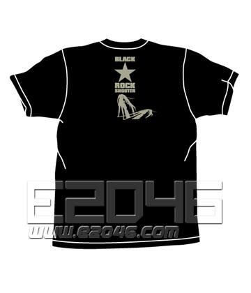Black Rock Shooter B*RS Chained T-shirt BLACK XL