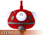 OT2219  Tachikoma Lamp Red