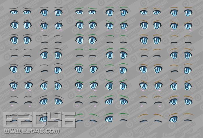 Polynian Eyedecal Set 01 A