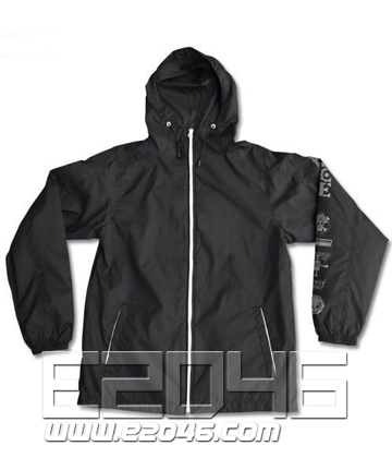 Ace of Fire Fist Windbreaker Black L