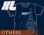 OT0281  超时空要塞 SDF-1 T-shirt 靛蓝色 XL