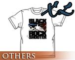 OT0171  Black Rock Shooter B*RS Flying T-shirt WHITE XL
