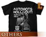 OT0674  Transformers Animated Optimus Prime T-shirt Black L