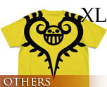OT1879  One Piece Trafalgar Law Tattoo T-shirt Yellow XL