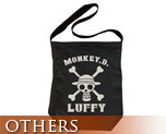 OT0468  One Piece Luffy Shoulder Tote Bag Black