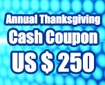 OT1692  US$ 250.00 Cash Coupon