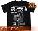 OT0675  Transformers Animated Optimus Prime T-shirt Black XL