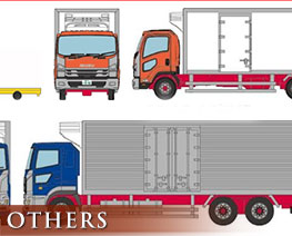 OT2354 1/150 The Truck Collection Toyosu Refrigerated Truck & Turret Type Transportation Vehicle