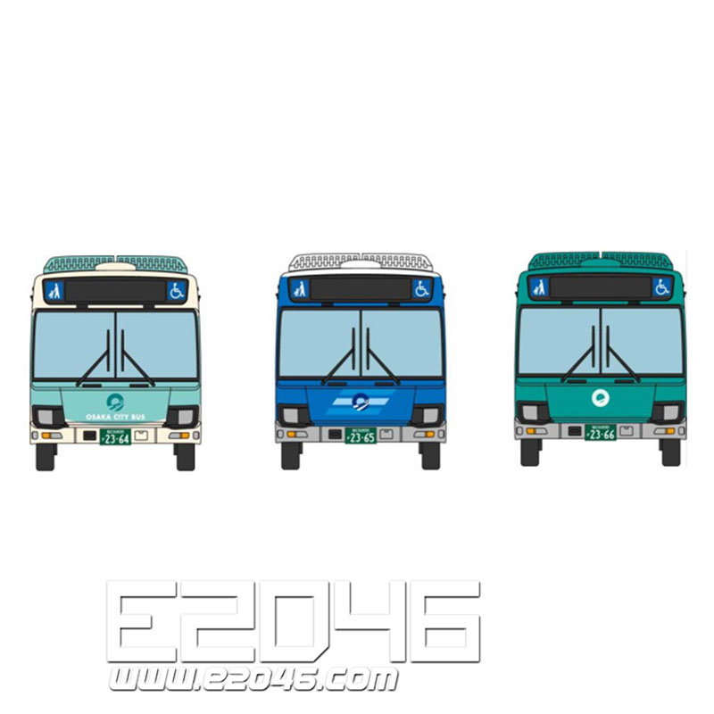 The Bus Collection Osaka City Bus New Design Debut Memorial 3 Version