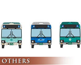 OT2298 1/150 The Bus Collection Osaka City Bus New Design Debut Memorial 3 Version