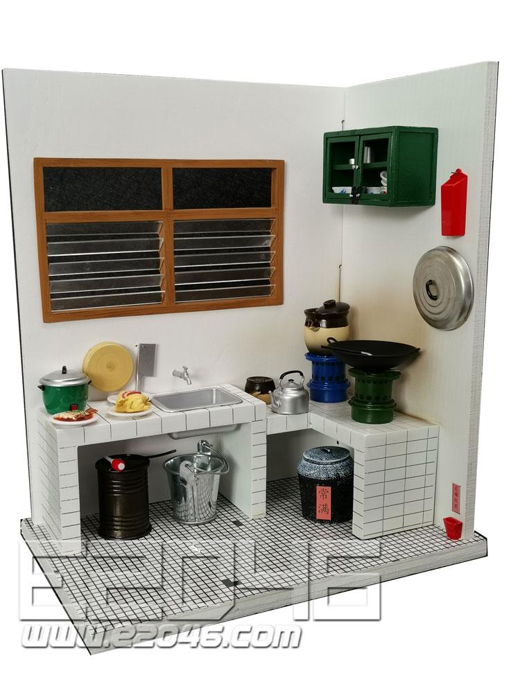 透视画集厨房昔日的香港版