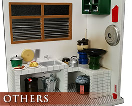OT2436 1/12 Diorama Set Traditional Hongkong Style Kitchen