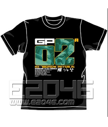 Gundam 0083 GP02A Physalis T-shirt Black S