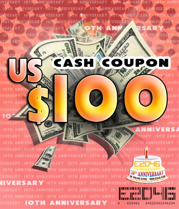 US$ 100.00 Cash Coupon