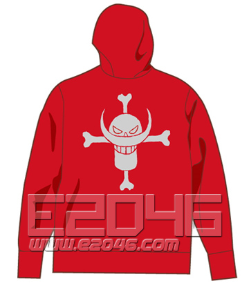 One Piece Ace Zip Parka Red L