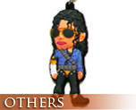 OT0078  Michael Jackson Rubber Key Chain A