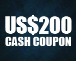 OT0958  US$ 200.00 Cash Coupon