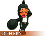 OT0080  Michael Jackson Rubber Key Chain C