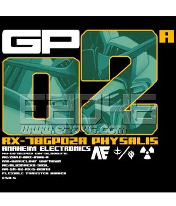 Gundam 0083 GP02A Physalis T-shirt Black L