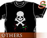 OT0474  海盗钢弹 骷髅 T-shirt 黑色 S