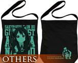 OT0537  K-on! Nakano Azusa Shoulder Tote Bag Black