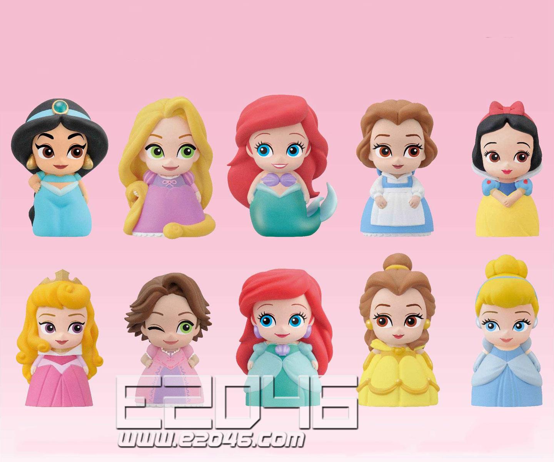 迪士尼公主软胶手办