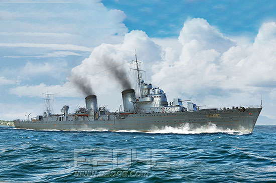 Russian Destroyer Taszkient 1940
