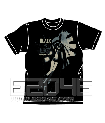 Black Rock Shooter B*RS Chained T-shirt BLACK S