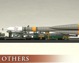 OT3268 1/150 Moderoid Soyuz Rocket And Transport Train