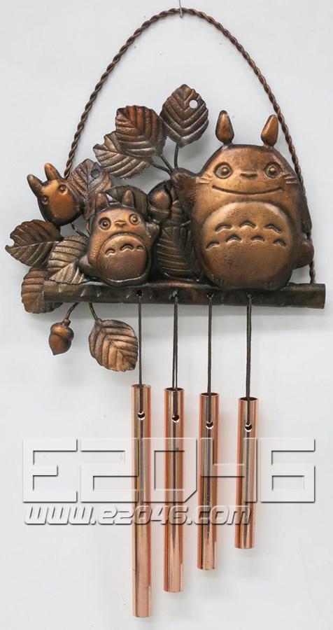 Copperplate Relief Wall Hanging Doorbell Totoro