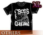 OT0465  Crossbone Gundam T-shirt Black XL