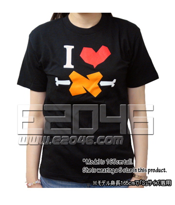 I Love BBQ Spit T-Shirt Black (L)