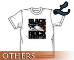 OT0170  Black Rock Shooter B*RS Flying T-shirt WHITE L