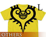 OT1878  One Piece Trafalgar Law Tattoo T-shirt Yellow L
