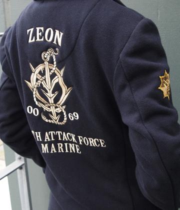 Gundam Zeon Design Pea Coat Navy L