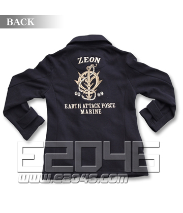 Gundam Zeon Design Pea Coat Navy L