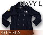 OT0121  Gundam Zeon Design Pea Coat Navy L