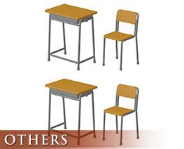 OT3232 1/6 Scale School Desk & Chair